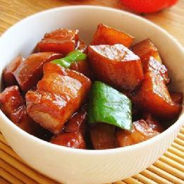 杏鲍菇烧五花肉